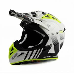 Airoh Aviator Ace Nemesi White Motocross Helmet