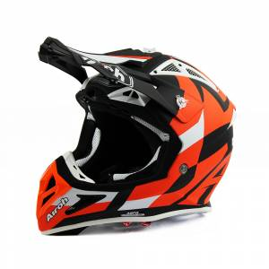 Airoh Aviator Ace Trick Orange Motocross Helmet