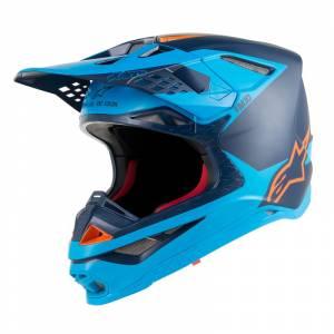 Alpinestars Supertech SM10 Meta Black Aqua Orange Fluo Motocross Helmet