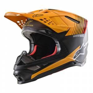 Alpinestars Supertech SM10 Dyno Black Carbon Orange Motocross Helmet
