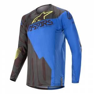 Alpinestars Techstar Factory Black Dark Blue Yellow Fluo Motocross Jersey