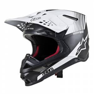 Alpinestars Supertech SM10 Dyno Black Carbon White Motocross Helmet