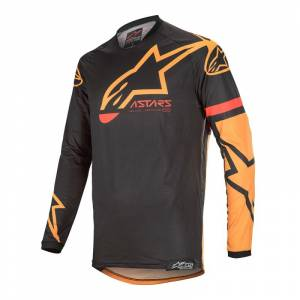 Alpinestars Racer Tech Compass Black Orange Motocross Jersey