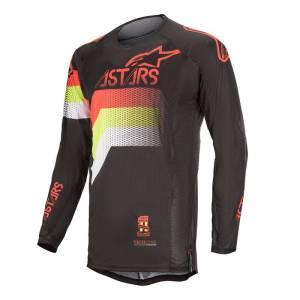 Alpinestars Techstar Venom Black Red Fluo Yellow Fluo Motocross Jersey