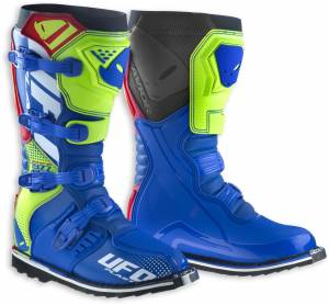 Avior MX Boots in Blue Red Neon Yellow