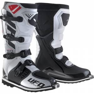 UFO White Black Avior MX Boots