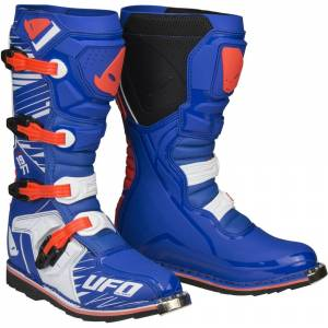 UFO Obsidian Red White Blue Motocross Boots