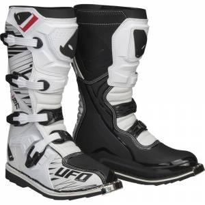UFO Obsidian White Black Motocross Boots