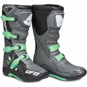 UFO Elektron Grey Aqua Motocross Boots
