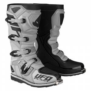 UFO Obsidian Grey Motocross Boots