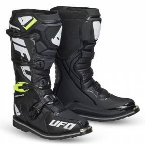 UFO Obsidian Black Motocross Boots