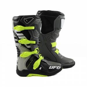 UFO Elektron Grey Fluo Yellow Motocross Boots