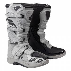 UFO Elektron White Motocross Boots