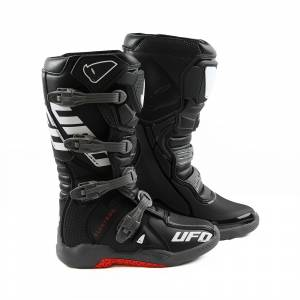 UFO Elektron Black Grey Motocross Boots