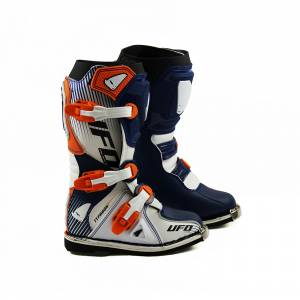 UFO Kids Typhoon Blue White Orange Motocross Boots