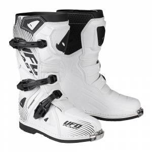 UFO Kids Typhoon White Motocross Boots