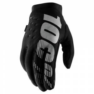 100% Kids Brisker Black Grey Cold Weather Motocross Gloves