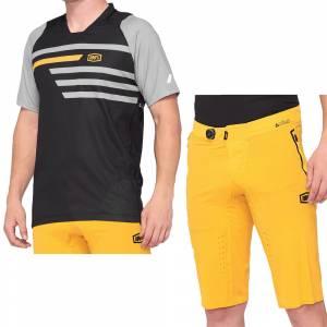 100% Celium Black Mustard Motocross Kit Combo