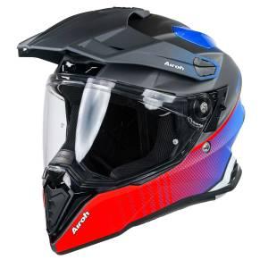 Airoh Commander Progress Red Blue Dual Sport Helmet