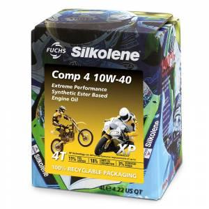 Silkolene Comp 4 10w-40 XP Ester Based Semi Synthetic Bike Engine Oil - 4 Litres