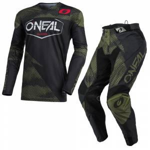 ONeal Mayhem Covert Black Green Motocross Kit Combo