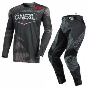 ONeal Mayhem Covert Charcoal Grey Motocross Kit Combo