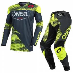 ONeal Mayhem Covert Charcoal Neon Yellow Motocross Kit Combo