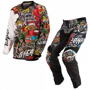 ONeal Mayhem Crank Black Multi Motocross Kit Combo