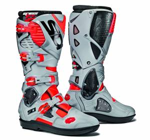 Sidi Red Fluo Ash Crossfire 3 SRS MX Boots