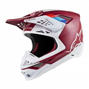 Alpinestars Supertech S-M8 Contact Dark Red White Motocross Helmet