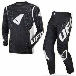 UFO Deepspace Black Motocross Kit Combo
