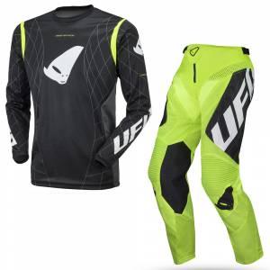 UFO Deepspace Neon Yellow Motocross Kit Combo