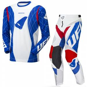 UFO Deepspace White Blue Motocross Kit Combo