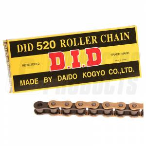 DID Chain 520 RJ Heavy Duty Chain - Gold Black