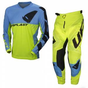UFO Division Neon Yellow Motocross Kit Combo