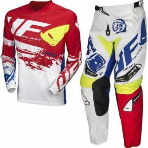 UFO Draft White Red Motocross Kit Combo