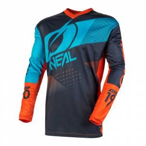 ONeal Kids Element Factor Grey Orange Blue Motocross Jersey