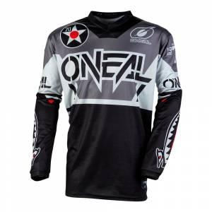 ONeal Element Warhawk Black Grey Motocross Jersey