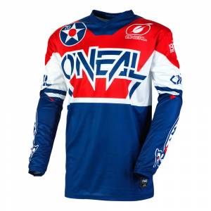 ONeal Element Warhawk Blue Red Motocross Jersey