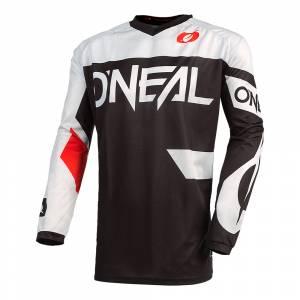 ONeal Element Racewear Black White Motocross Jersey