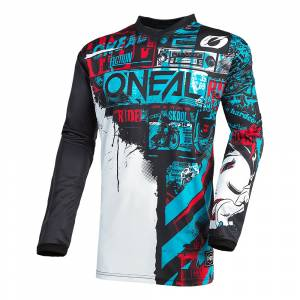 ONeal Kids Element Ride Black Blue Motocross Jersey