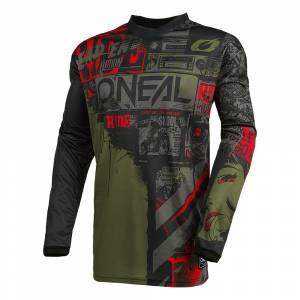 ONeal Element Ride Black Green Motocross Jersey