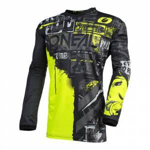 ONeal Kids Ride Element Ride Black Neon Yellow Motocross Jersey