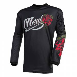 ONeal Element Roses Black Red Women's Motocross Jersey