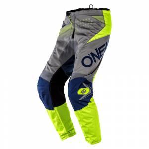 ONeal Kids Element Factor Grey Blue Neon Yellow Motocross Pants