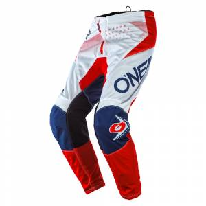 ONeal Element Factor White Blue Red Motocross Pants