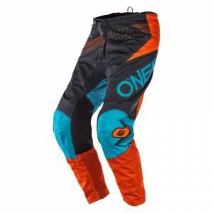 ONeal Kids Element Factor Grey Orange Blue Motocross Pants