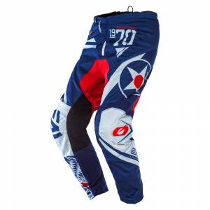 ONeal Element Warhawk Blue Red Motocross Pants