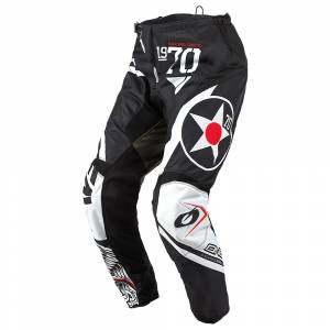 ONeal Element Warhawk Black White Green Motocross Pants