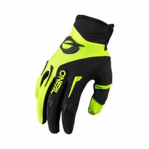 ONeal Kids Element Neon Yellow Black Motocross Gloves